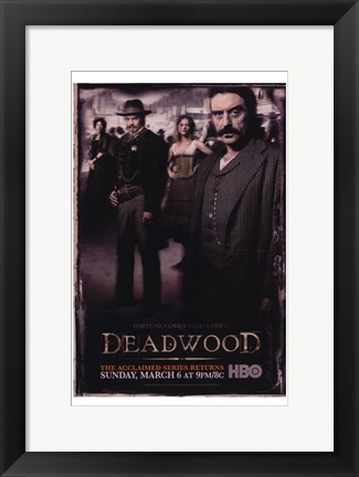 Framed Deadwood Cast Print