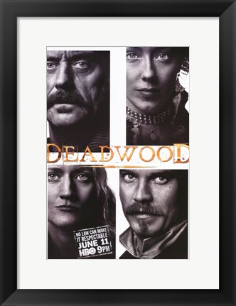 Framed Deadwood Four Squares Print