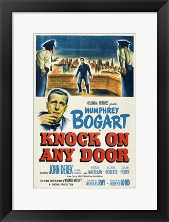 Framed Knock on Any Door Humphrey Bogart Print