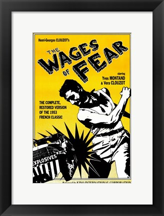 Framed Wages of Fear Montand Clouzot Print