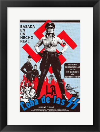 Framed Ilsa - She Wolf of the SS Print