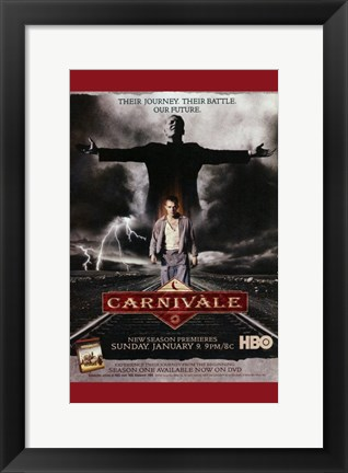 Framed Carnivale Journey Battle Future Print