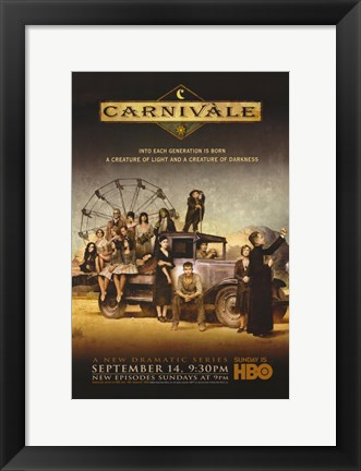 Framed Carnivale TV Show Print