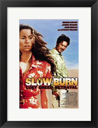 Framed Slow Burn Print