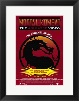 Framed Mortal Kombat - dragon Print