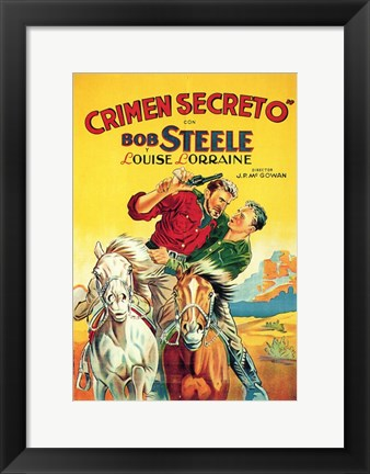 Framed Crimen Secreto Print