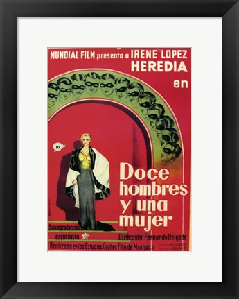 Framed Doce Hombres y Una Mujer Print