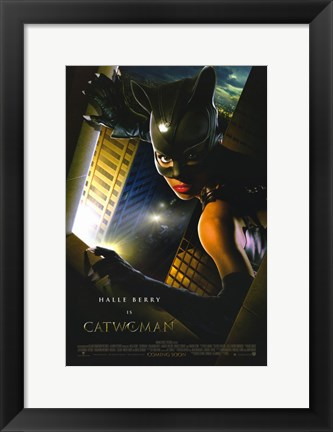 Framed Catwoman Halle Berry Print