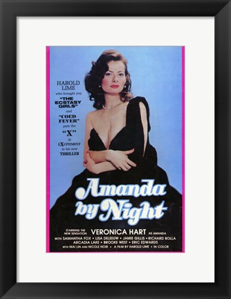 Framed Amanda By Night Print