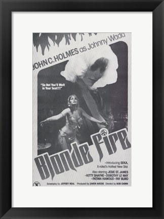 Framed Blonde Fire Print