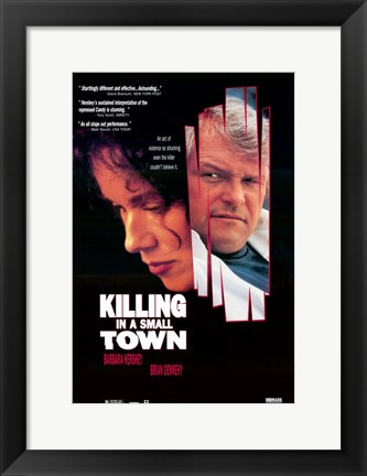 Framed Killing in a Small Town Print