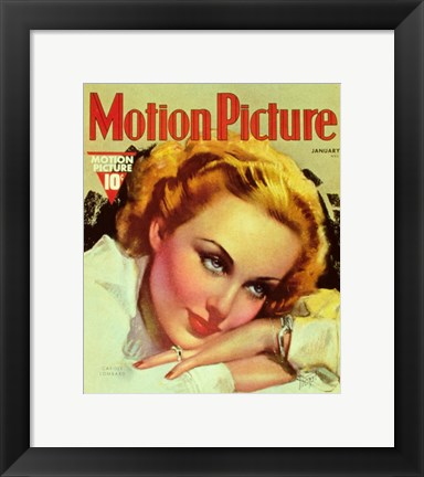 Framed Carole Lombard Motion Picture Print