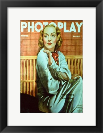 Framed Carole Lombard Photoplay Print
