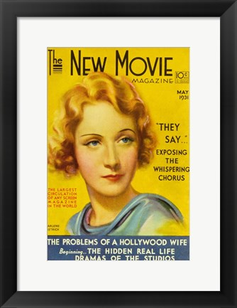 Framed Marlene Dietrich - New movie Print