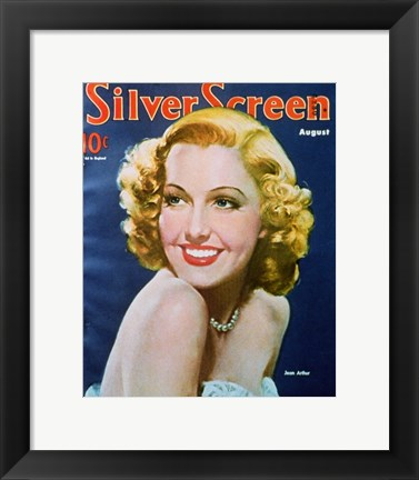 Framed Jean Arthur - silver screen Print