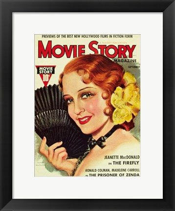Framed Jeanette MacDonald - Movie Story Print