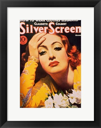 Framed Joan Crawford - Silver Screen Print