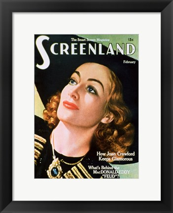 Framed Joan Crawford - Screenland Print