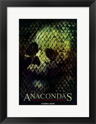 Framed Anacondas: The Hunt for the Blood Orchid Print