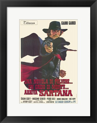 Framed Gunman in Town Print