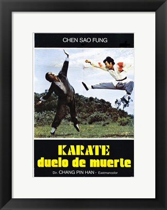 Framed Karate Death Duel Print