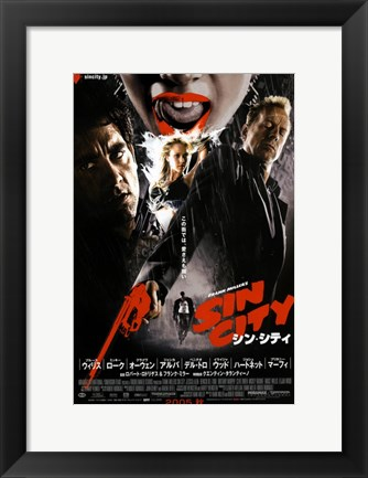 Framed Sin City Chinese Print