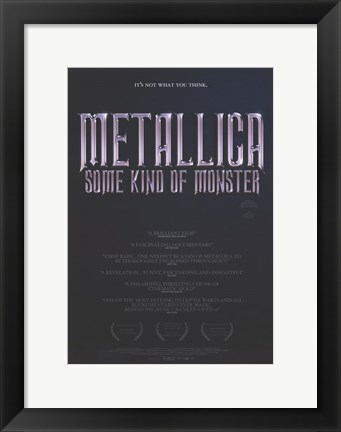 Framed Metallica: Some Kind of Monster Print