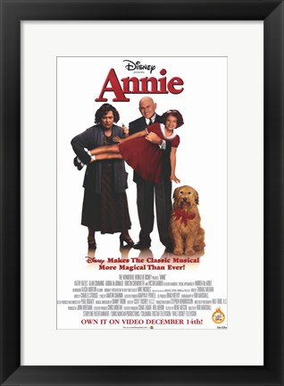 Framed Annie Shirley Temple Disney Print