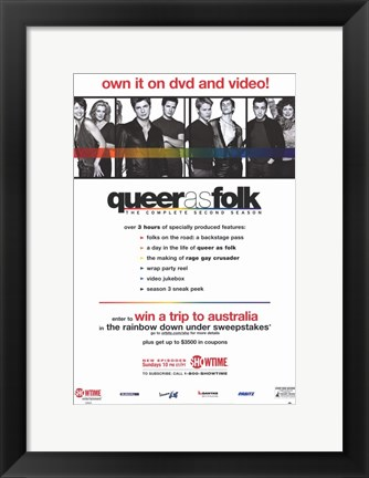 Framed Queer As Folk - the complete second season Print