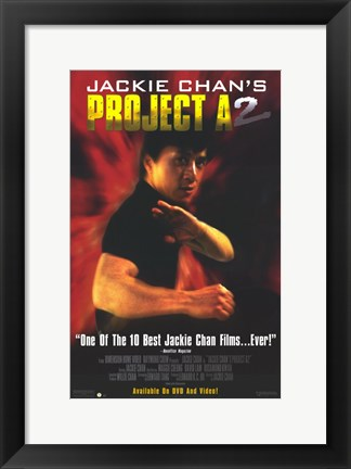 Framed Jackie Chan's Project A2 Print