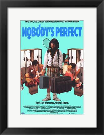 Framed Nobody's Perfect Print