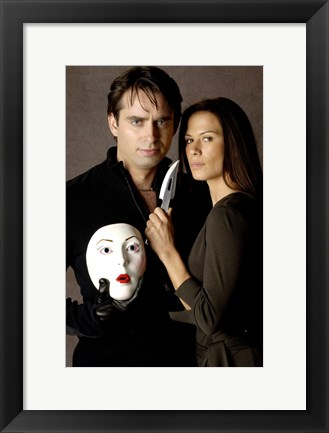 Framed Nip/Tuck - couple with a mask Print