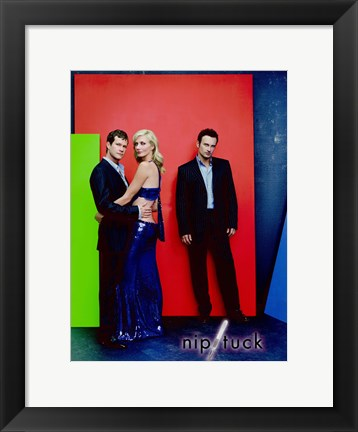 Framed Nip/Tuck - A couple and a man Print