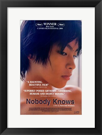 Framed Nobody Knows Print