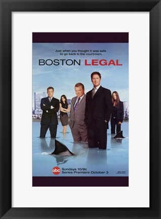 Framed Boston Legal - shark Print