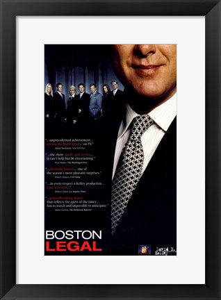 Framed Boston Legal - characters Print