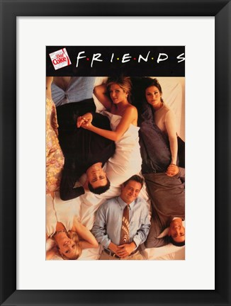 Framed Friends (TV) Beds Vertical Print