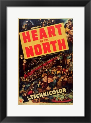 Framed Heart of the North Print