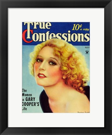 Framed Thelma Todd Print