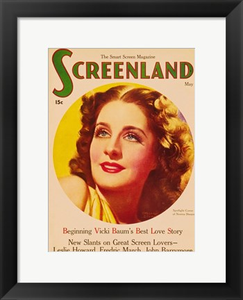 Framed Norma Shearer On Screenland Print