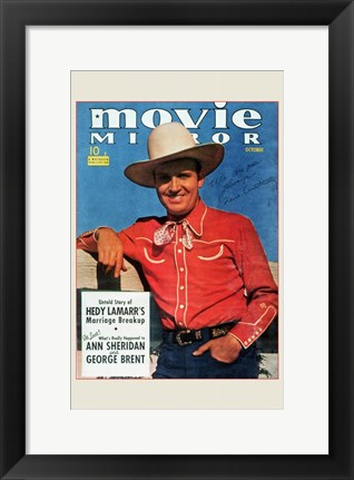 Framed Gene Autry Print