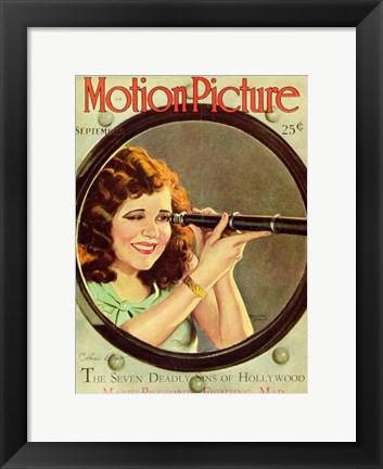 Framed Clara Bow - motion picture Print