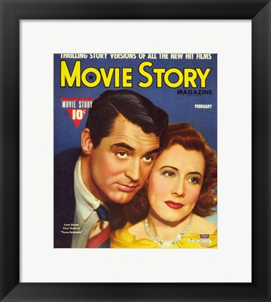 Framed Irene Dunne - Movie Story Print