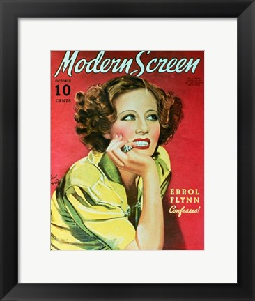 Framed Irene Dunne - Modern screen Print