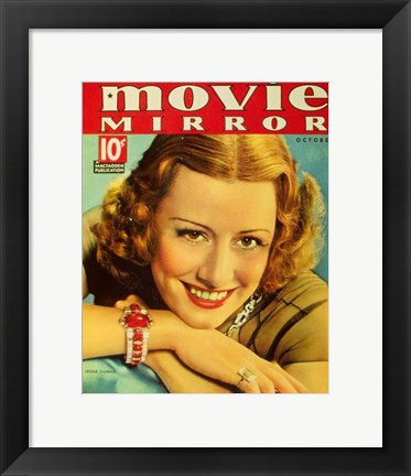 Framed Irene Dunne - Movie Mirror Print