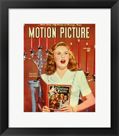 Framed Deanna Durbin - Motion Picture Print