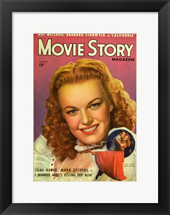 Framed June Haver Print
