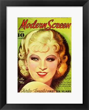 Framed Mae West Print