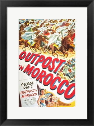 Framed Outpost in Morocco Print