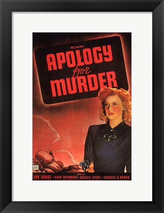 Framed Apology for Murder Print